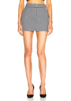 Tibi Gingham Suiting Mini Trouser Skirt