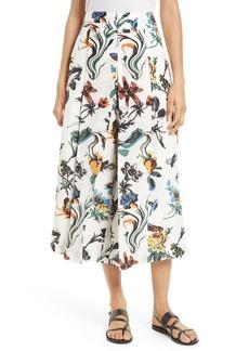 Tibi Gothic Floral Nerd Crop Pants