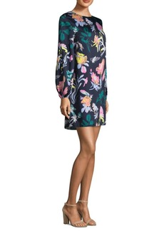 Tibi Gothic Floral Shift Dress