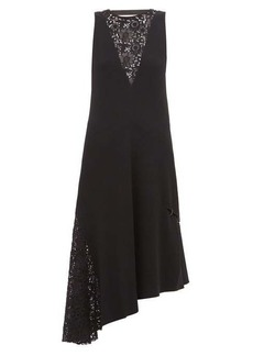 Tibi Guipure-lace crepe dress