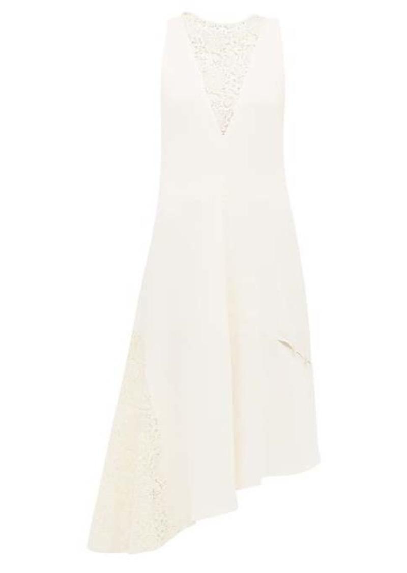 Tibi Guipure-lace crepe dress