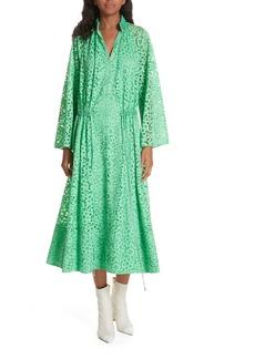 Tibi Half Zip Lace Midi Dress