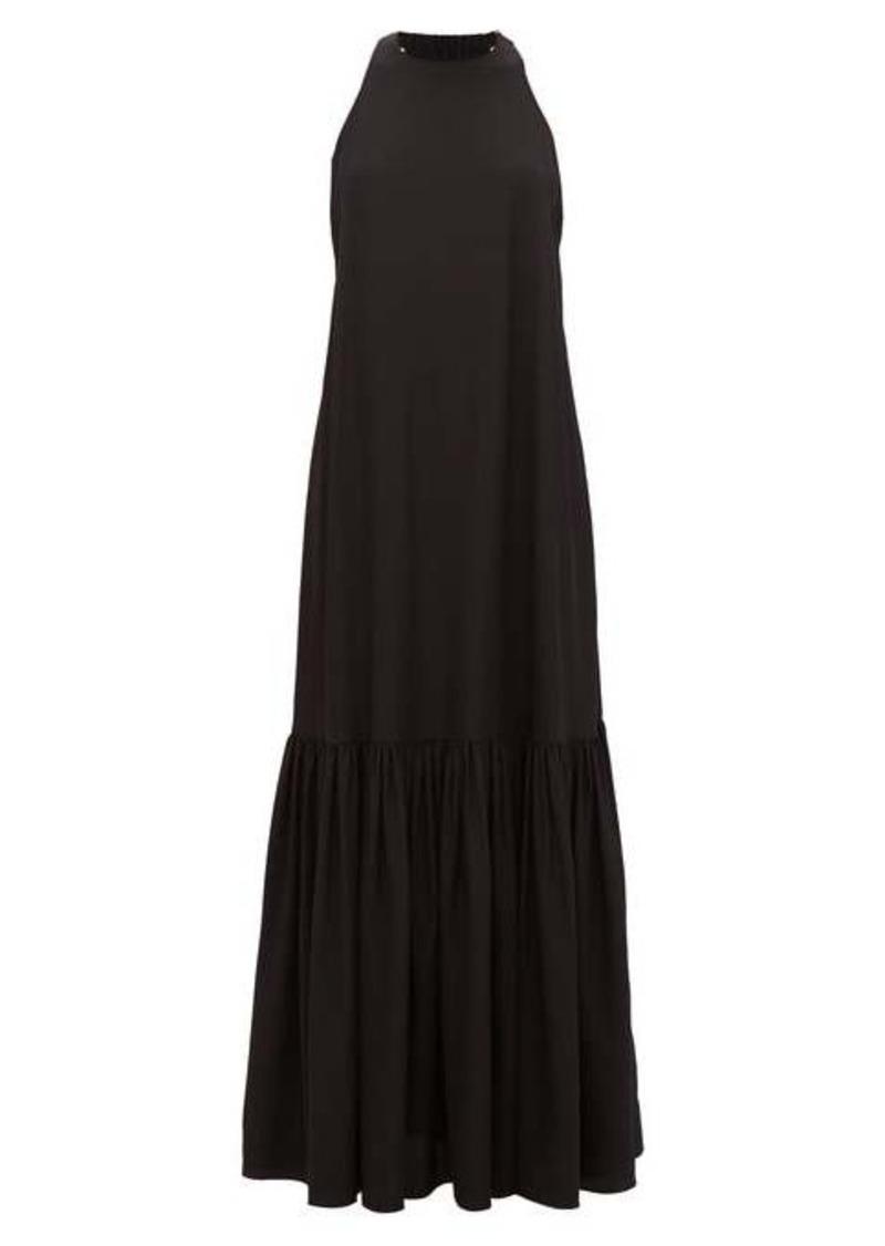 Tibi Halterneck silk dress