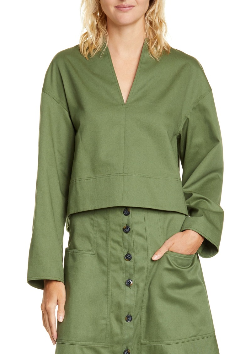 Tibi Harrison Chino Sculpted Crop Top
