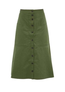 Tibi Harrison cotton-twill skirt