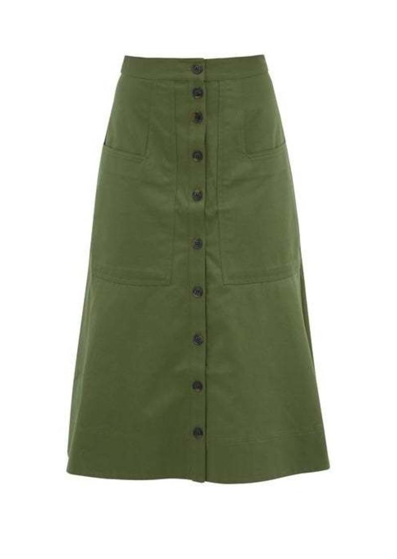 Tibi Harrison cotton-twill skirt