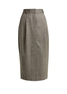 Tibi Herringbone wool pencil skirt