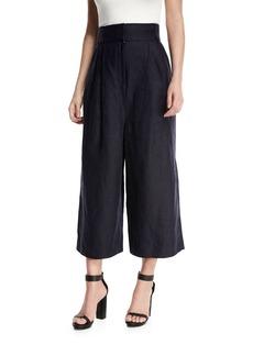 Tibi Hessian High-Waist Linen Culottes