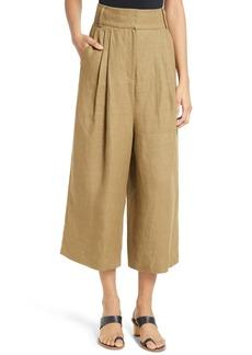 Tibi Hessian Linen Crop Pants
