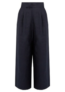 Tibi Hessian linen cropped trousers