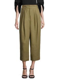 Tibi Hessian Linen Culottes