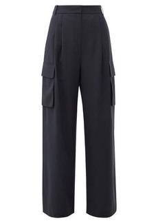 Tibi Crepe wide-leg cargo trousers
