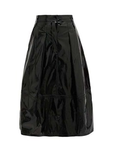 Tibi High-rise PVC midi skirt
