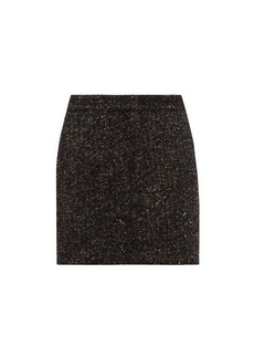 Tibi High-rise wool-blend tweed mini skirt