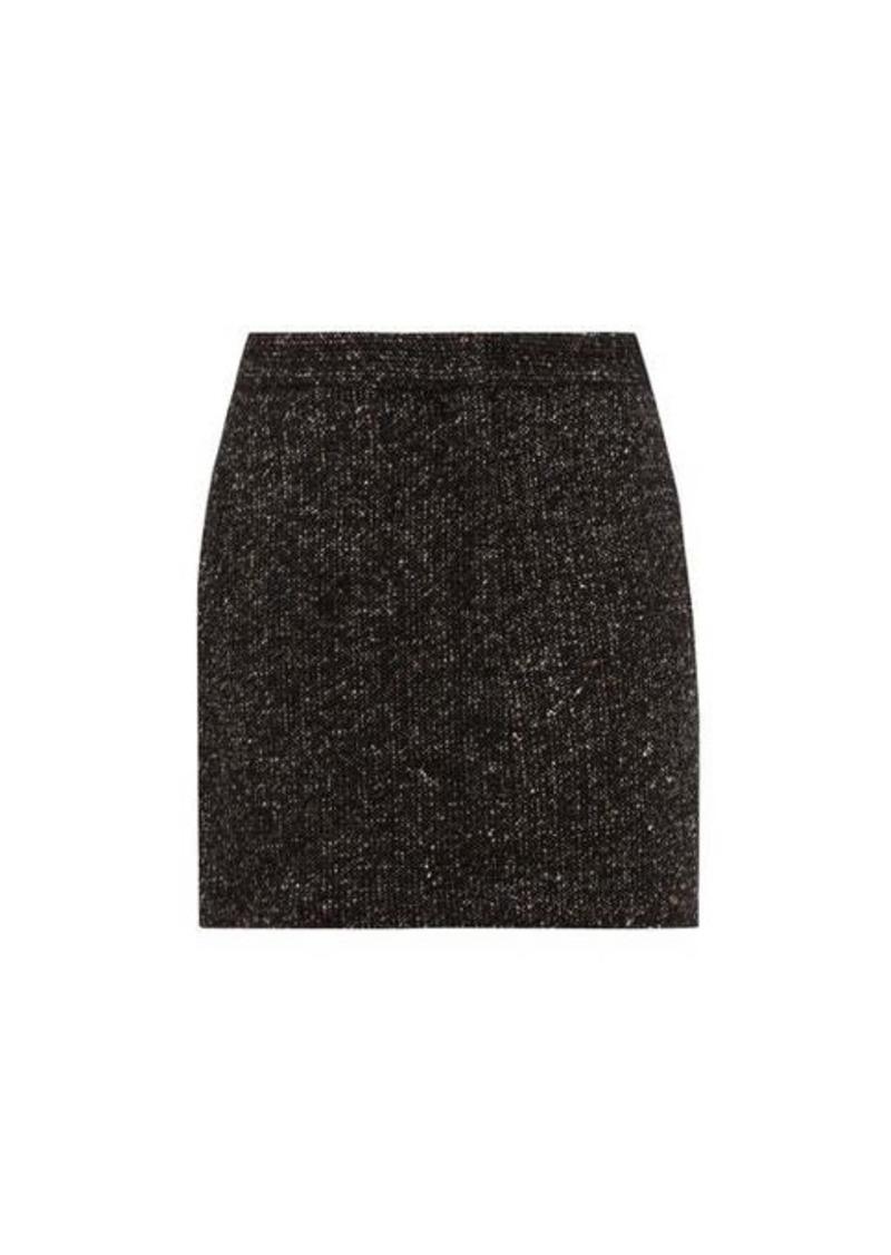 Tibi High-rise wool-blend tweed mini skirt