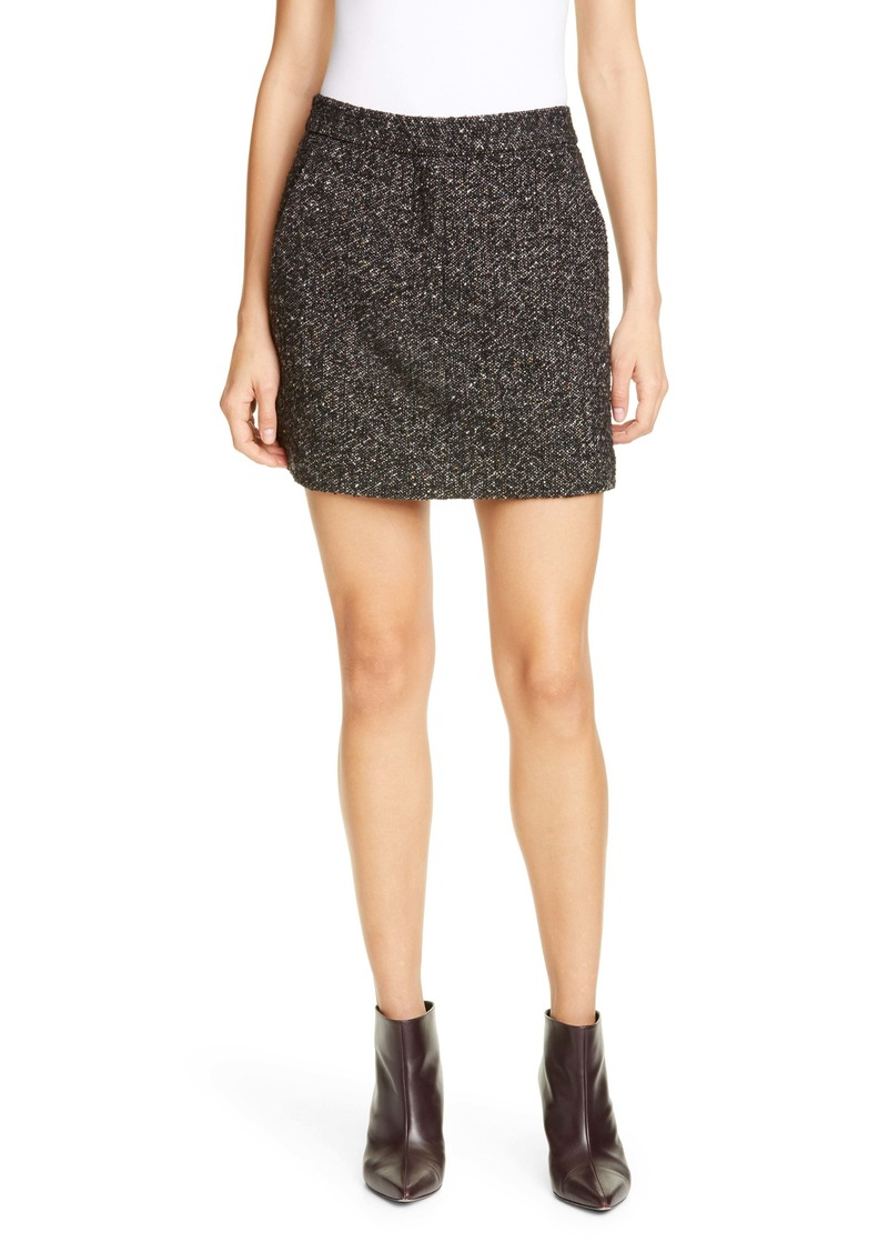 Tibi High Waist Multicolor Tweed Miniskirt