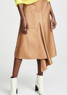 Tibi High Waisted Drape Skirt
