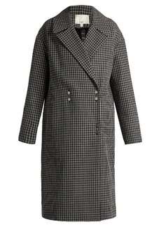 Tibi Hound's-tooth wool-blend coat