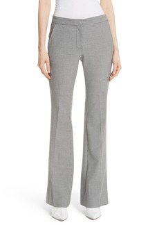 Tibi Hudson Check Slim Bootcut Pants