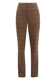 Tibi James checked tapered trousers