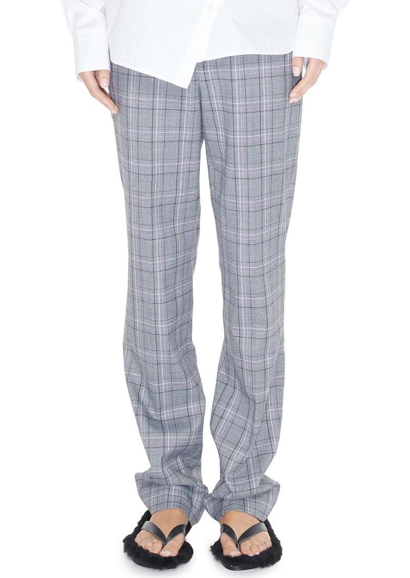 Tibi James Menswear Check Mid-Rise Pants