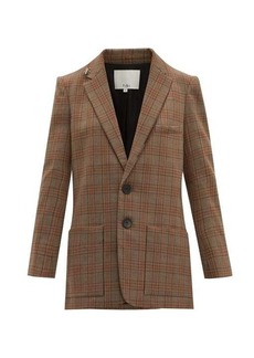 Tibi James single-breasted checked blazer