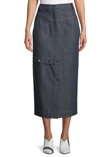 Tibi Jamie Straight Jeans Long Skirt