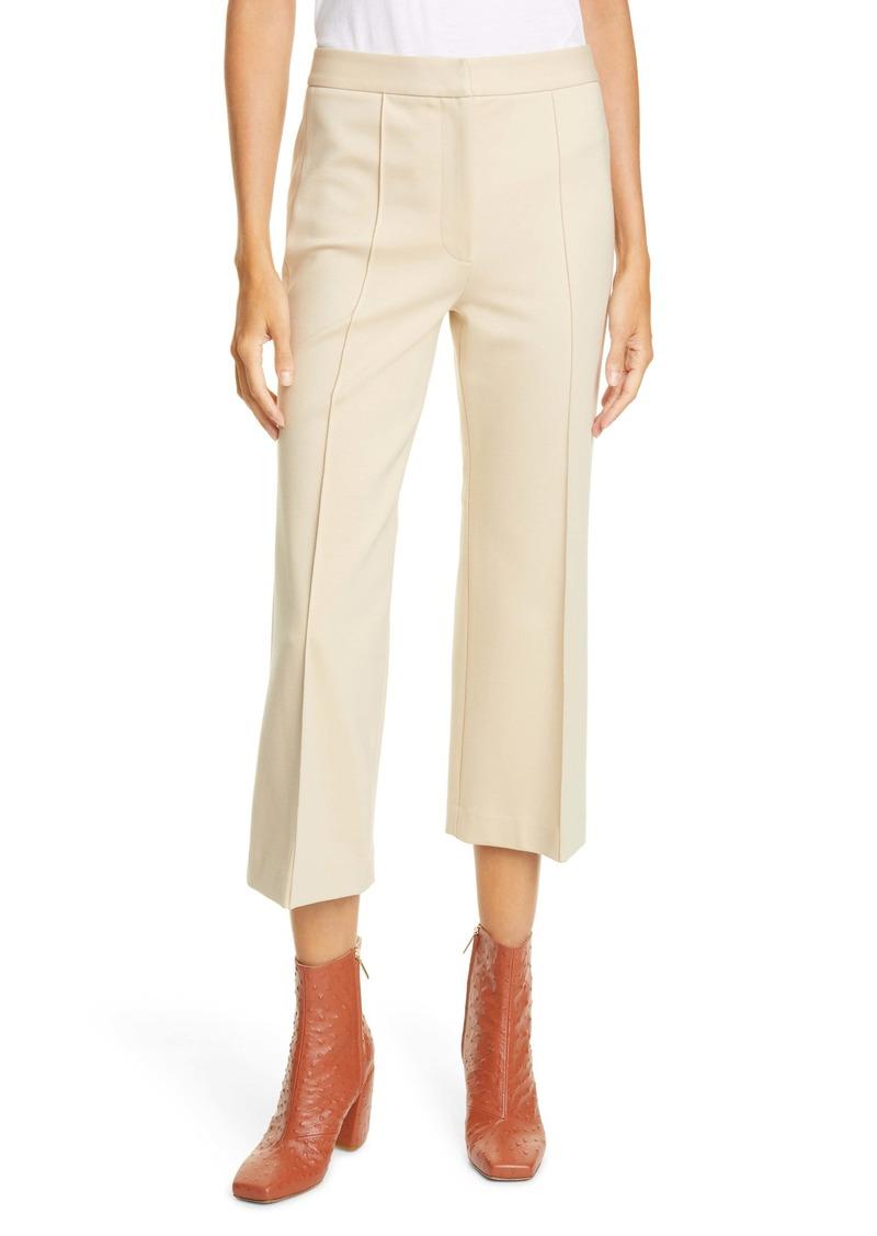 Tibi Jane Bond Stretch Knit Crop Bootcut Pants