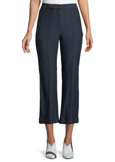 Tibi Jane Pinstripe Cropped Boot-Cut Pants