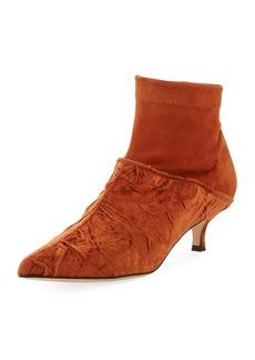 Tibi Jean Velvet Point-Toe Boots
