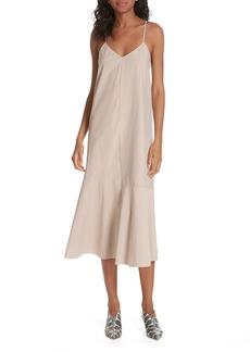 Tibi Kaia Stripe Flared Midi Dress