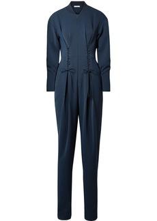 Tibi Lace-up crepe jumpsuit