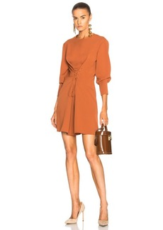 Tibi Lace Up Dress