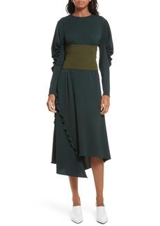 Tibi Lace-Up Knit Corset