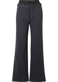 Tibi Layered cotton-jersey and shell track pants