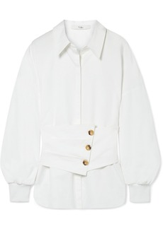 Tibi Layered Cotton-poplin Shirt