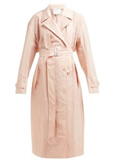 Tibi Lightweight double-breasted trench coat