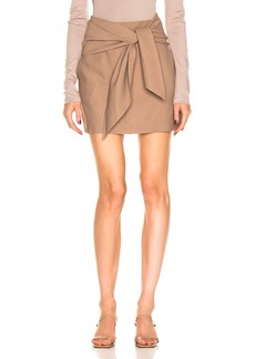 Tibi Linen Suiting Skirt with Detachable Top