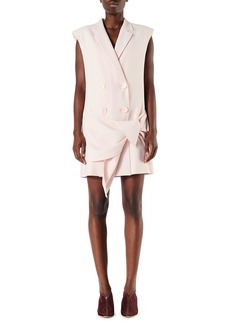 Tibi Linen-Viscose Suiting Sleeveless Dress