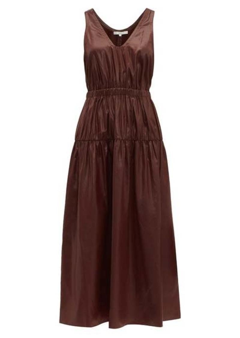 Tibi Liquid Drape gathered-waist dress