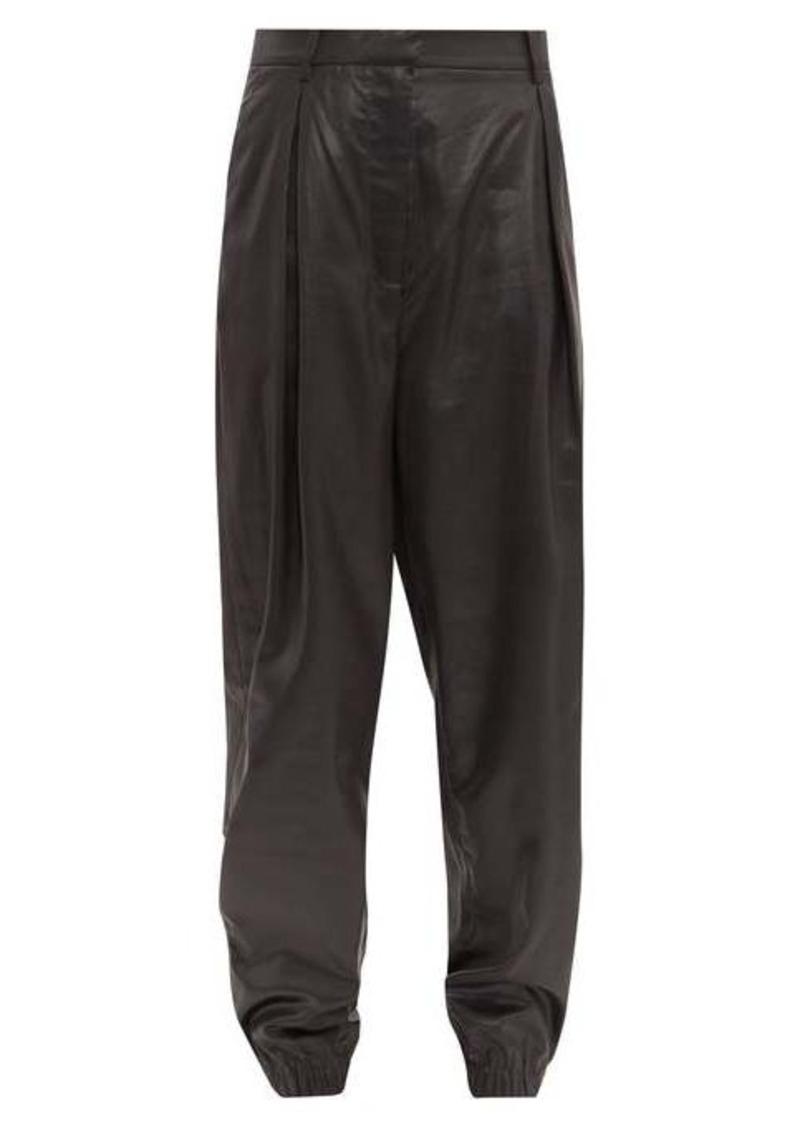 Tibi Liquid Drape pleated trousers