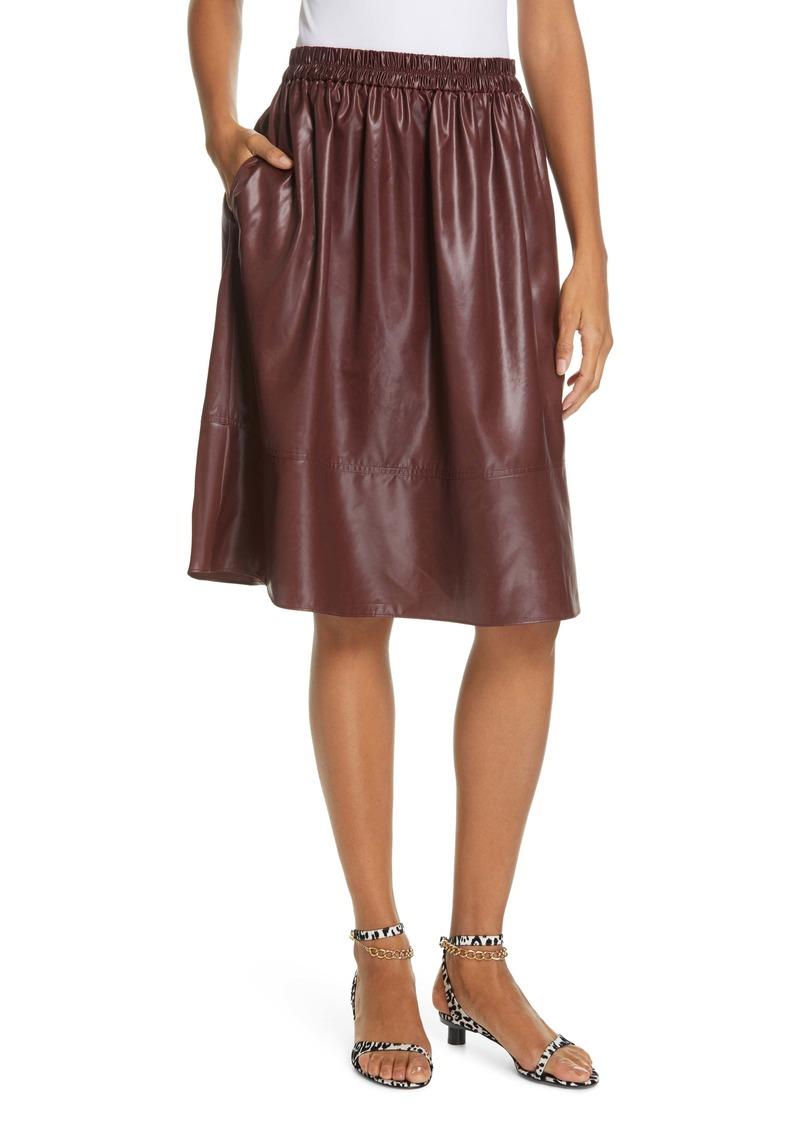 Tibi Liquid Drape Skirt
