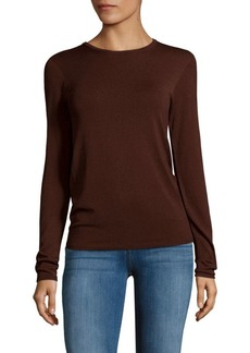 Tibi Long-Sleeve Crewneck Sweater