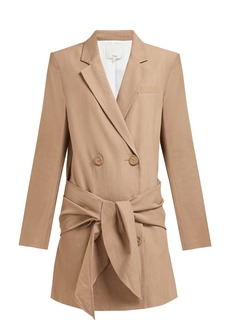 Tibi Long tie-waist double-breasted blazer dress