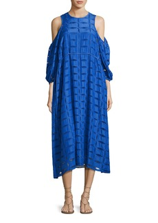 Tibi Luca Eyelet-Cutout Dress