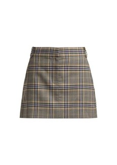 Tibi Lucas check mini skirt