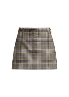 Tibi Lucas check mini skirt