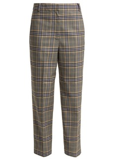 Tibi Lucas checked woven trousers