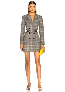 Tibi Lucas Suiting Double Breasted Blazer Dress