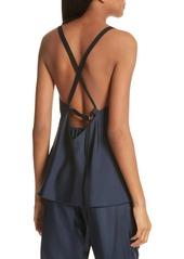 Tibi Mendini Strappy Back Silk Camisole